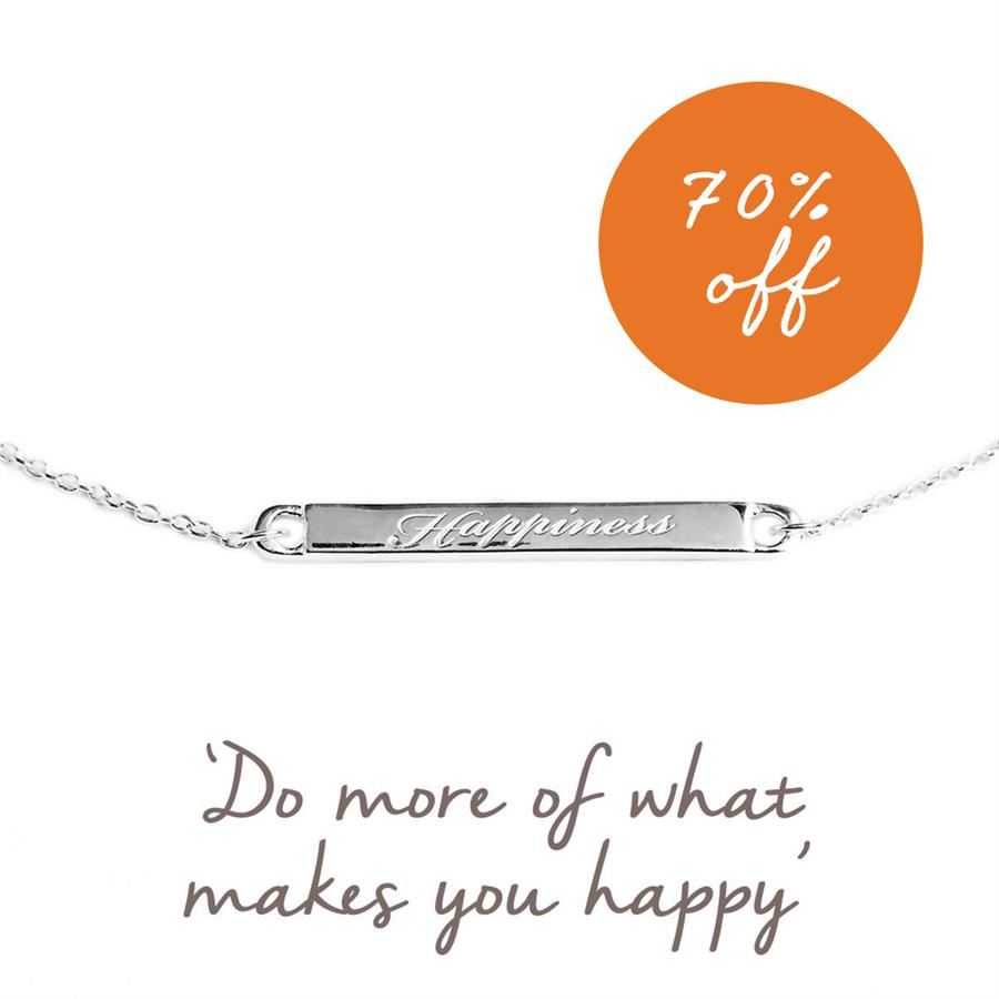 Sterling Silver Happiness Bracelet