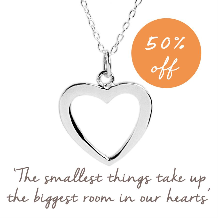 Buy Two Hearts Necklace in Sterling Silver