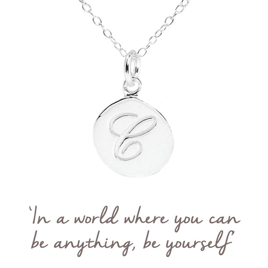 Sterling Silver Initial C Necklace