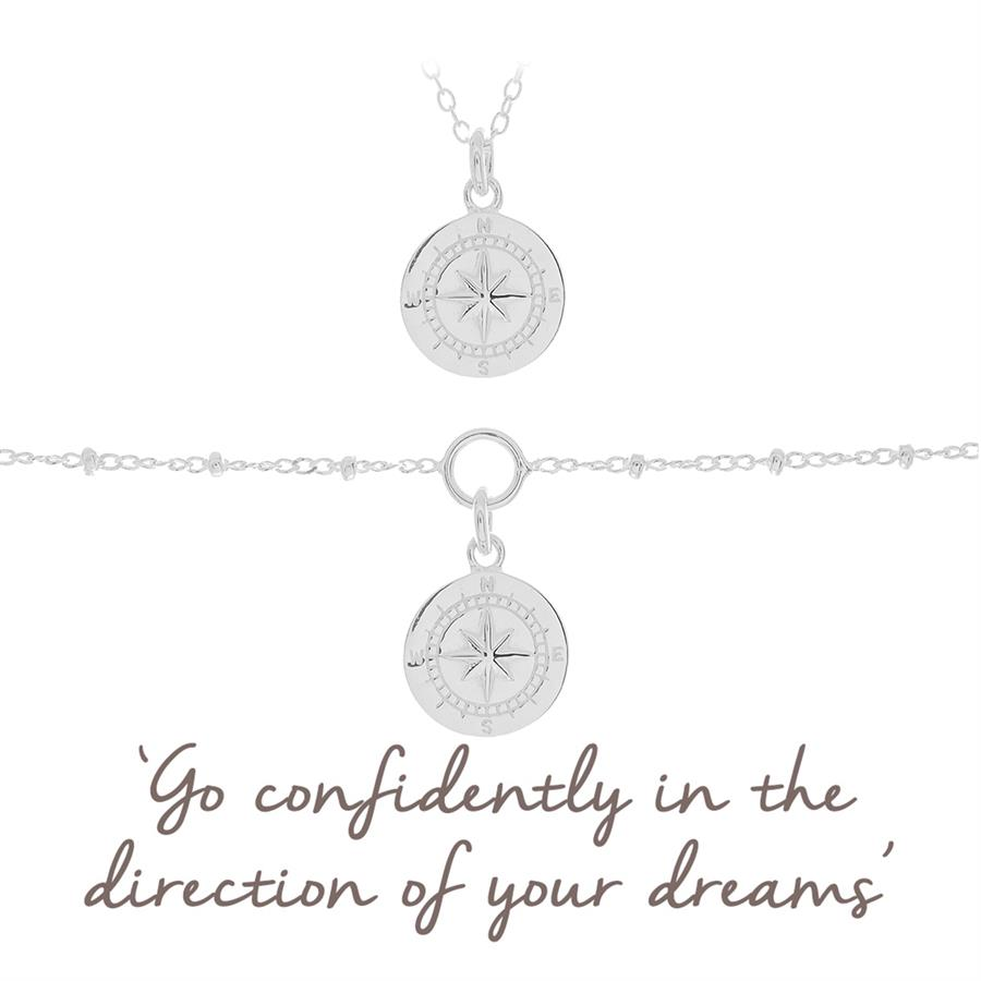 Compass Necklace and bracelet gift set