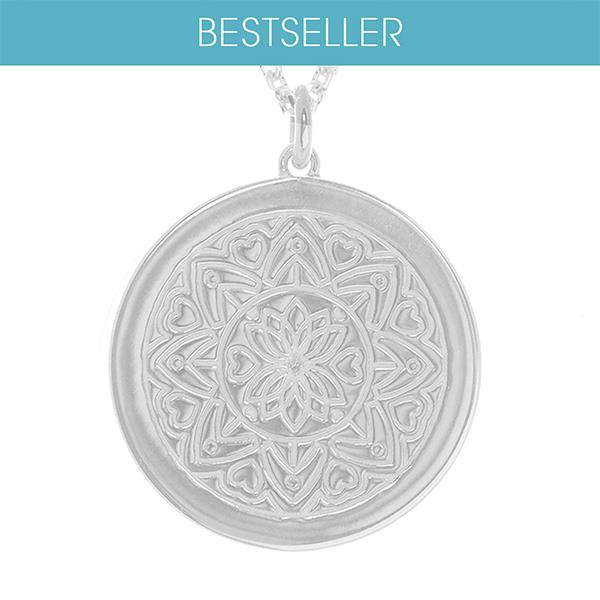 Sterling Silver Mandala Necklace - Personalised