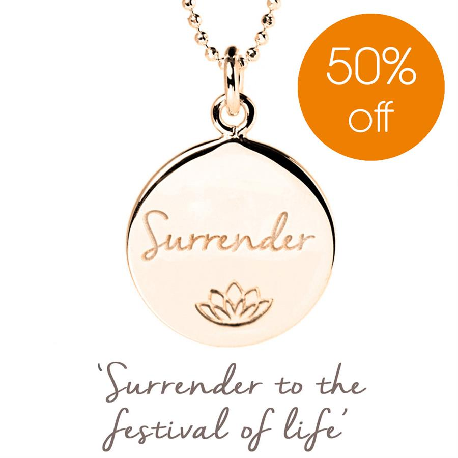 Rose Gold Persia Lawson Surrender Necklace