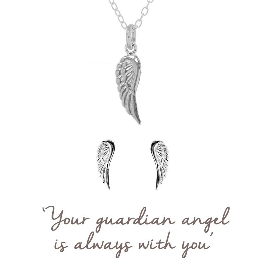 Guardian Angel Gift Set - Necklace and Earrings