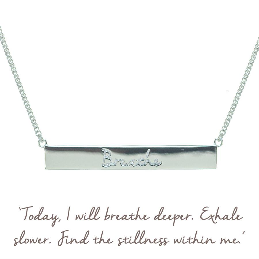 Sterling Silver Breathe Necklace