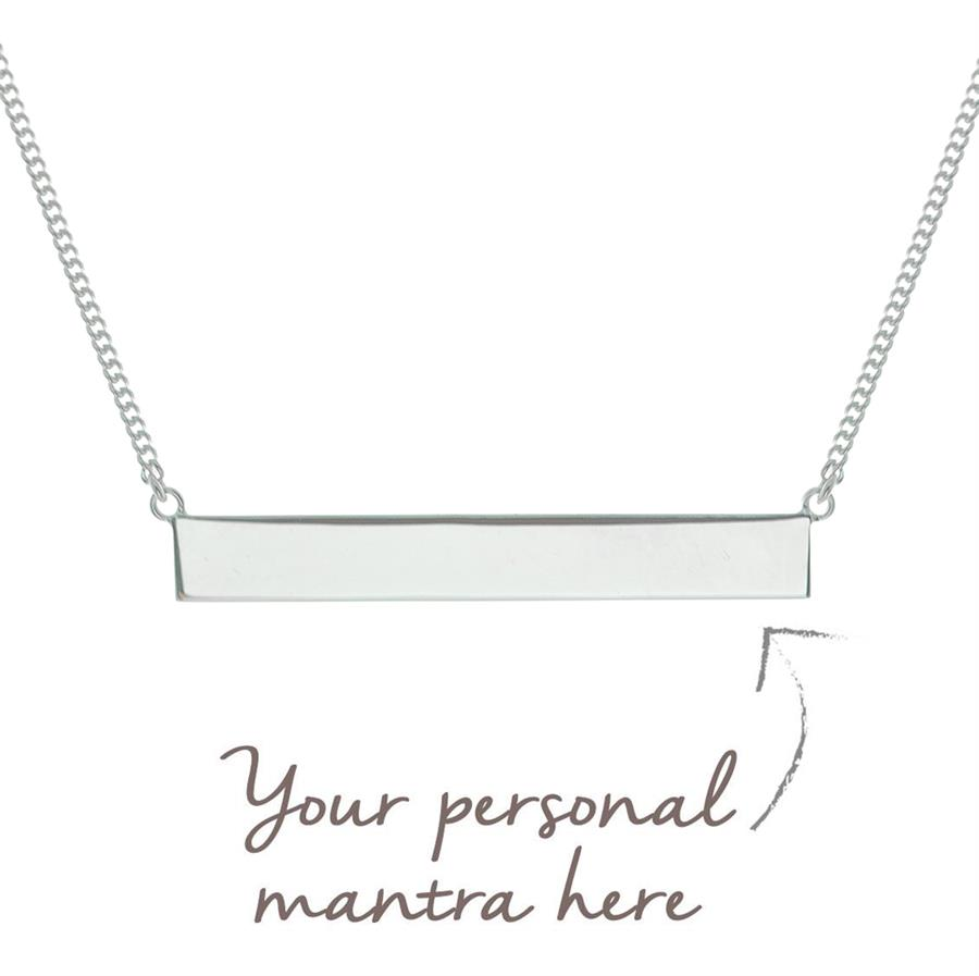 Personalised Sterling Silver myMantra Bar Necklace