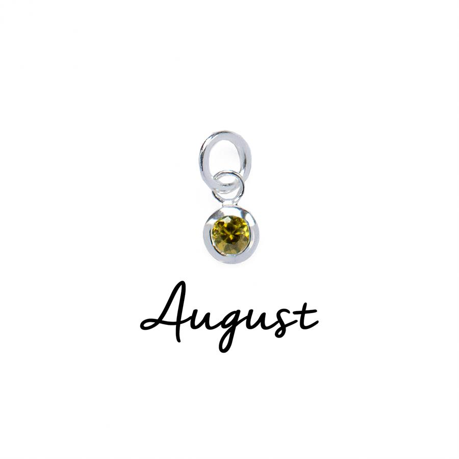 Sterling Silver August CZ Birthstone Pendant