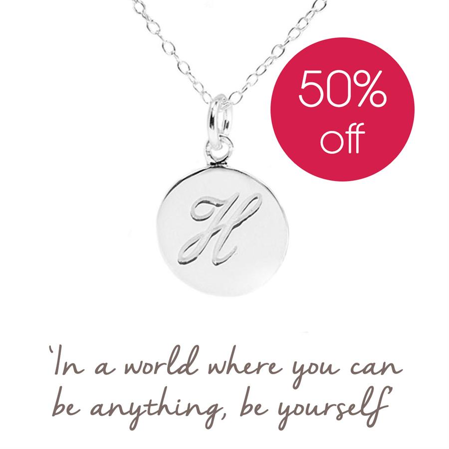 Sterling Silver Initial H Necklace