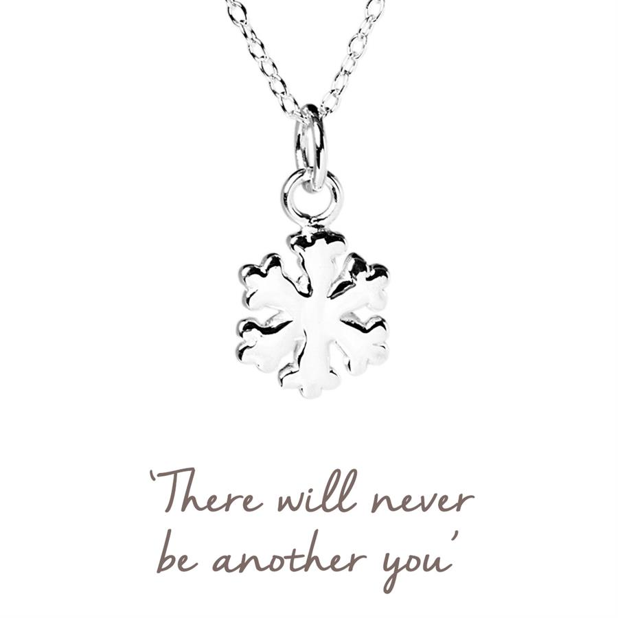 Sterling Silver Snowflake Necklace - Christmas Gifts