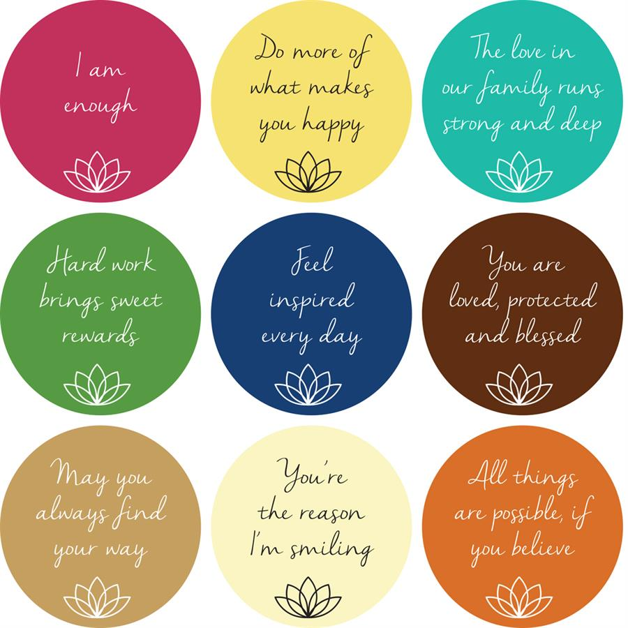 Mantra Stickers Set A