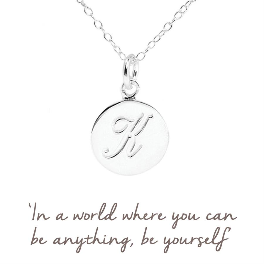 Sterling Silver Initial K Necklace