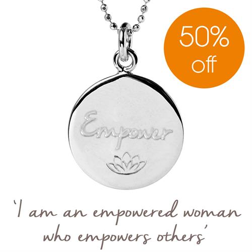 Buy Empower Charity Necklace, Care International | Sterling Silver, Gold & Rose Gold