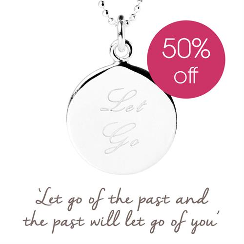Sterling Silver Let Go Necklace