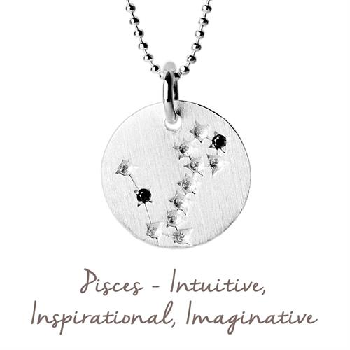 Buy Pisces Star Map Necklace | Sterling Silver and Gold