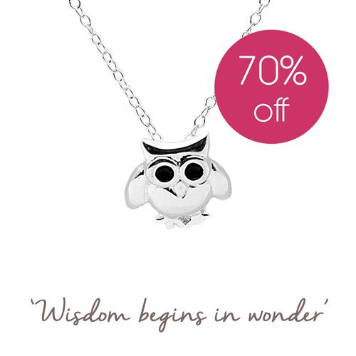 Buy Owl Necklace in Sterling Silver
