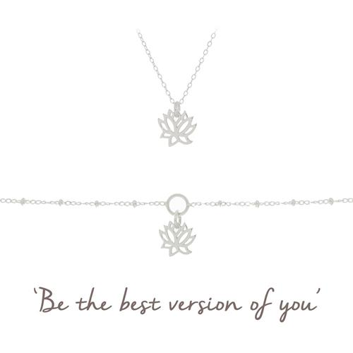 Buy Lotus Bracelet Gift Set | Sterling Silver