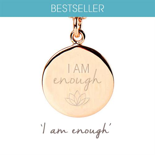 Buy I Am Enough Necklace | Sterling Silver, Gold & Rose Gold