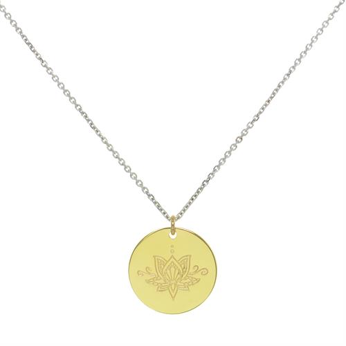 Buy Gold Ornate MyMantra Personalised Long Necklace