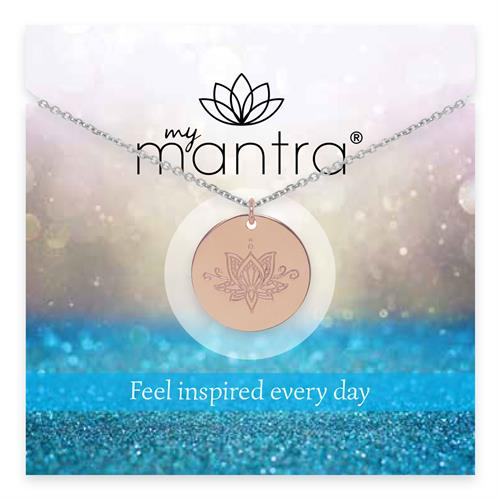 Buy Rose Gold Ornate myMantra Personalised Long Necklace