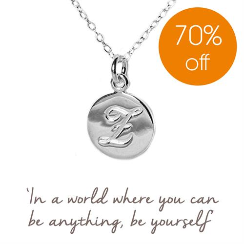 Sterling Silver Initial E Necklace