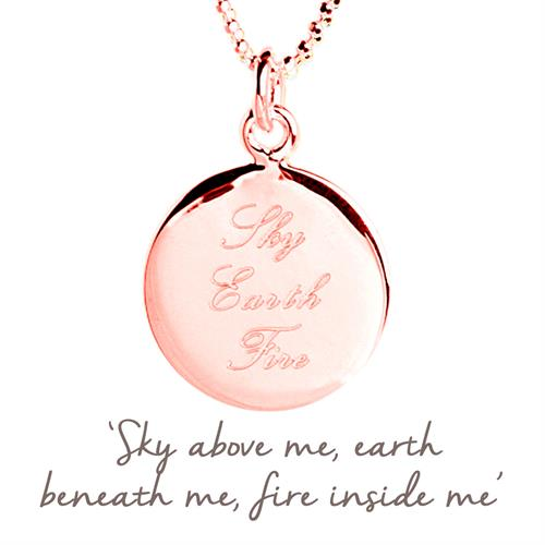 Sterling Silver Sky, Earth, Fire Necklace