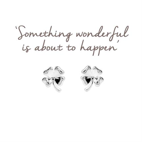Sterling Silver Four Leaf Clover stud Earrings
