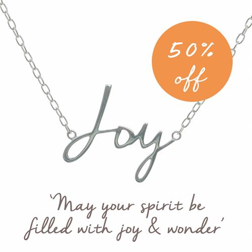 Buy Joy Script Necklace in Sterling Silver
