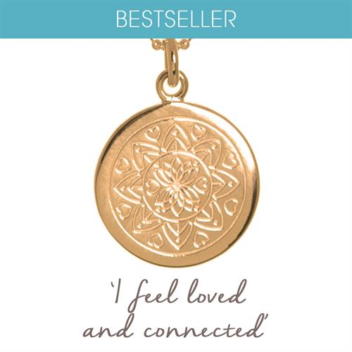 Buy Love Mandala Necklace | Sterling Silver, Gold & Rose Gold