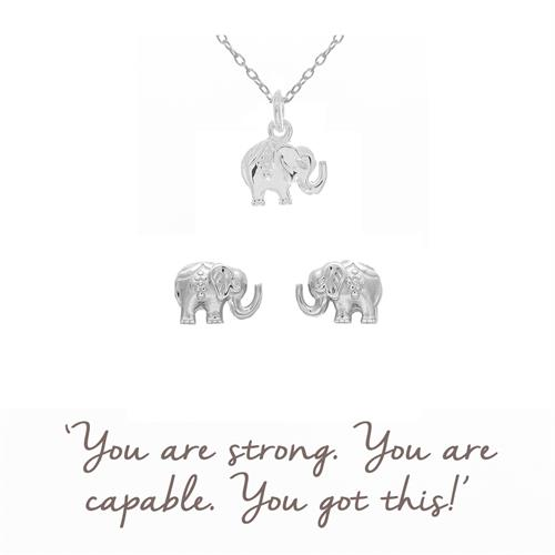 Buy Elephant Necklace & Earrings Gift Sets | Sterling Silver