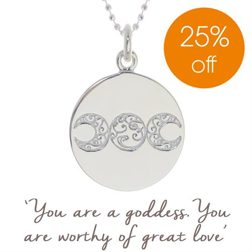 Buy Mel Wells Goddess Necklace | Sterling Silver, Gold & Rose Gold