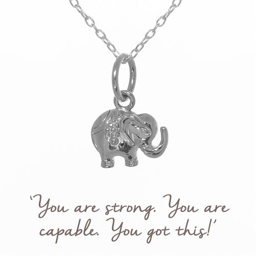 Buy Decorated Elephant Necklace in Sterling Silver