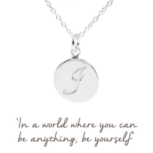 Buy I Initial Necklace in Sterling Silver