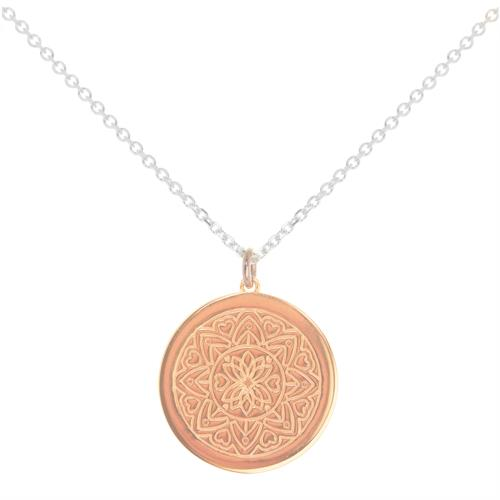 Buy Love Mandala MyMantra Personalised Short Necklace | Sterling Silver, Gold and Rose Gold