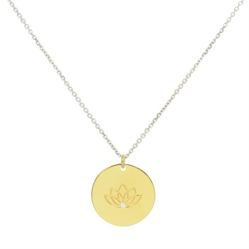 Buy Gold CZ MyMantra Personalised Long Necklace