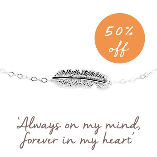 Buy Feather Bracelet, Family & Friendship Mantra
