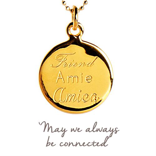 Buy Friend Necklace | Sterling Silver, Gold & Rose Gold