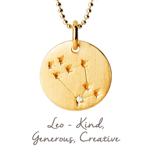 Sterling Silver Leo Star Map Necklace