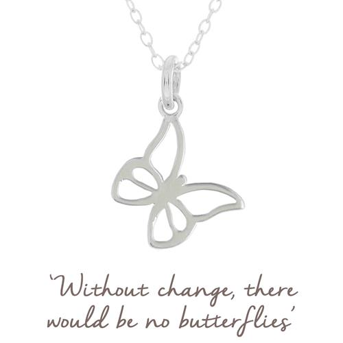 Buy Butterfly Necklace in Sterling Silver