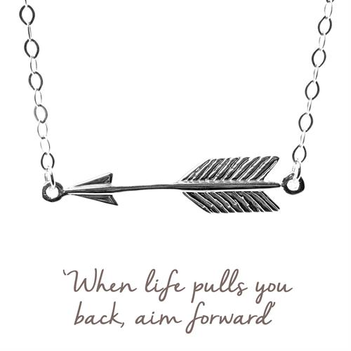 Buy Arrow Necklace, Self-belief | Sterling Silver, Gold & Rose Gold