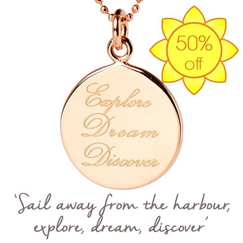 Rose Gold Explore Dream Discover Necklace