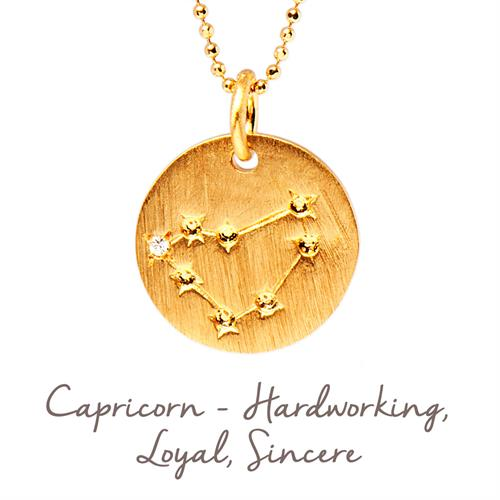 Sterling Silver Capricorn Star Map Necklace