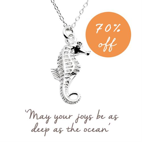 Buy Seahorse Necklace in Sterling Silver
