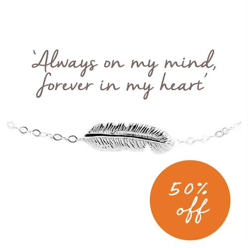 Buy Feather Bracelet in Sterling Silver