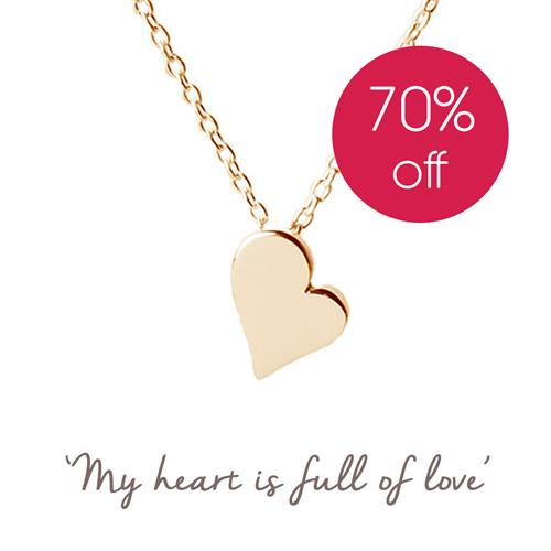 Buy Heart Necklace | Sterling Silver, Gold & Rose Gold