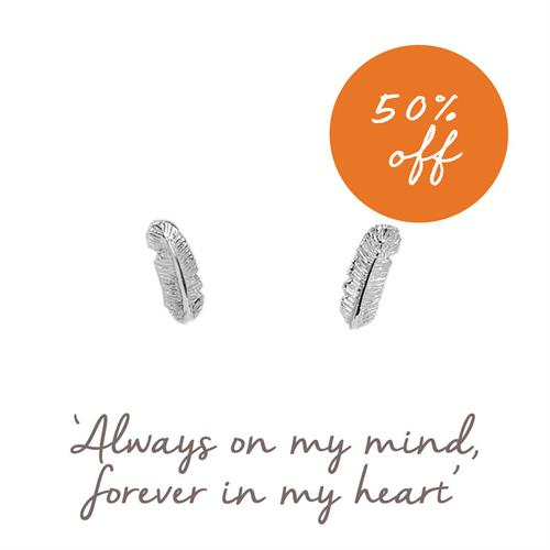 Buy Feather Studs, Family & Friendship Mantra