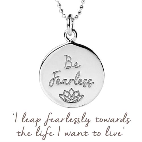 Buy Be Fearless Necklace | Sterling Silver, Gold & Rose Gold