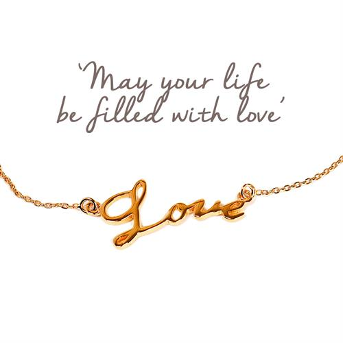 Buy Love Script Bracelet | Sterling Silver, Gold & Rose Gold