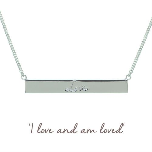Buy Love Bar Necklace | Sterling Silver, Gold & Rose Gold