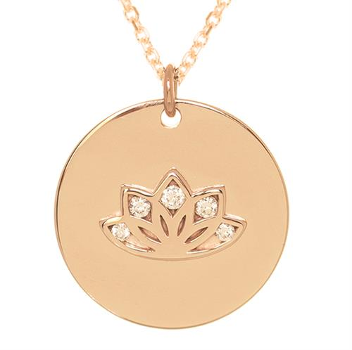 Buy Sparkling Lotus MyMantra Personalised Long Necklace | Sterling Silver, Gold and Rose Gold