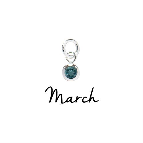 Buy March CZ Birthstone | Sterling Silver