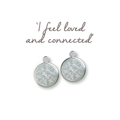 Buy Love Mandala Earrings | Sterling Silver